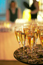 Corporate party champagne Royalty Free Stock Image