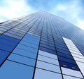 Corporate skyscraper Royalty Free Stock Photo