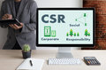Corporate Social Responsibility CSR and Sustainability Responsible Office CSR Royalty Free Stock Photo