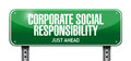 Corporate social responsibility illustration design over a white background Royalty Free Stock Images
