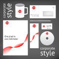 Corporate style elements Royalty Free Stock Photo