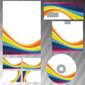 Corporate style rainbow stationery template clip art Royalty Free Stock Images
