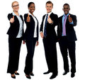 Corporate team gesturing thumbs up Stock Photography