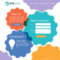 Corporate website template. Modern flat web design. Colorful abs Royalty Free Stock Photo