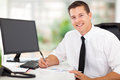 Corporate worker working happy in office Stock Photos