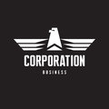 Corporation eagle logo sign in classic graphic style for business company Royalty Free Stock Photo