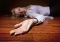 Corpse the dead woman s body focus on hand Stock Photo