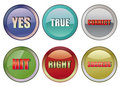 Correct buttons Stock Photography