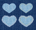 Correction de coeur de denim. Images stock