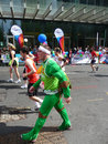 Corredores do divertimento na maratona 2ö abril 2010 de Londres Imagem de Stock