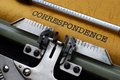 Correspondence concept close up of Stock Photo