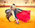 Corrida spanish bullfight matador fighting in a typical Stock Photography