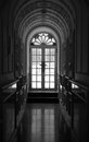 Corridor a black and white photo Stock Images