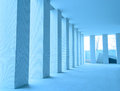 Corridor close view of office indoor Royalty Free Stock Photos