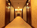 Corridor in hotel Royalty Free Stock Image