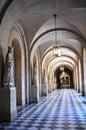 Corridor of mediaeval building Stock Photography