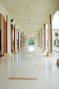 A corridor at mosque baitul izzah in tarakan indonesia Stock Photo