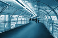 Corridor for passage to boarding in plane Royalty Free Stock Photo