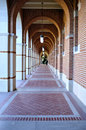 Corridor and passageway in university houston Stock Images