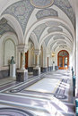 Corridor of the Peace Palace, The Hague Royalty Free Stock Photo
