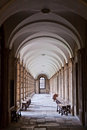 Corridor in Queen's college, Oxford Royalty Free Stock Photo