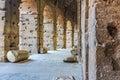 Corridors inside the Coliseum Royalty Free Stock Photo