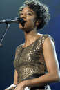 Corrine Bailey Rae performing live. Stock Images