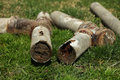 Corroded and blocked steel household pipes very old Stock Image