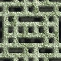 Corroded square vent seamless background Stock Photo