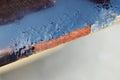 Corrosion of the vehicle body paint damage Royalty Free Stock Photo