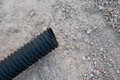 Corrugate drainage pipe constuction Royalty Free Stock Photo