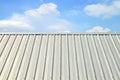 Corrugated aluminum roof Royalty Free Stock Photo