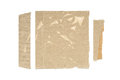 Corrugated card scraps pieces of cardboard isolated on white background Royalty Free Stock Photos