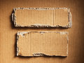Corrugated cardboard as a background Stock Photography