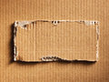 Corrugated cardboard as a background Royalty Free Stock Image