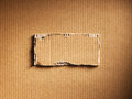 Corrugated cardboard as a background Royalty Free Stock Photos
