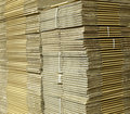 Corrugated cardboard boxes Royalty Free Stock Images