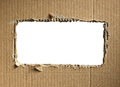 Corrugated cardboard isolated on white as a background Royalty Free Stock Photo