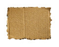 Corrugated cardboard isolated on white as a background Stock Photos