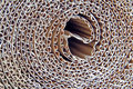 Corrugated cardboard roll photo of close up ideal for backgrounds etc Royalty Free Stock Photography