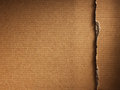 Corrugated cardboard on white as a background Stock Photo