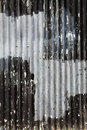 Corrugated iron fence background Royalty Free Stock Photo