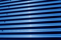 Corrugated iron structure in blue tonal color Royalty Free Stock Photography