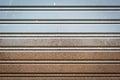 Corrugated metal sheet slide door Royalty Free Stock Photo