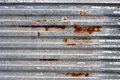 Corrugated Metal Texture Stock Photography