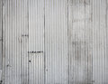 Corrugated metal wall background Royalty Free Stock Photo