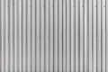 Corrugated metal wall, metal construction fence.