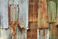 Corrugated metal wall rusty texture background Royalty Free Stock Photos