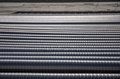 Corrugated pipes the metal close up Royalty Free Stock Photography