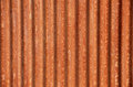 Corrugated rusted steel background wall on an old shed Stock Image